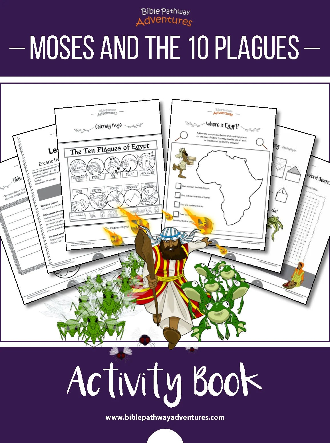 Moses And The Ten Plagues Printable Passover Activity Book