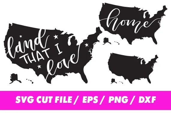 Download Land that I love SVG United States clipart USA svg America ...