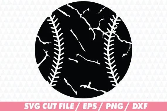 Download Baseball svg Distressed baseball cricut Distressed svg   Etsy