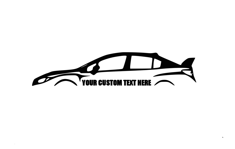Subaru Wrx Sti Custom Decal Jdm Decal Subaru Decal