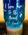 Custom Personalized Beach Scene Insulated Beverage Tumbler Etsy