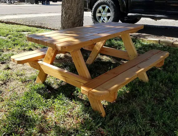 48 kids teen size small picnic table plan step by step etsy