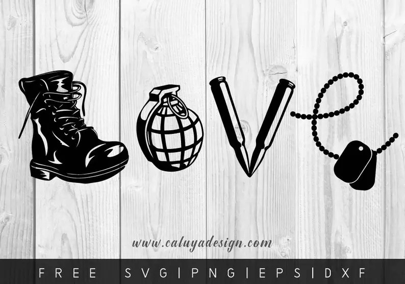 Download FREE SVG & PNG Link Love army Cut Files svg png dxf eps | Etsy