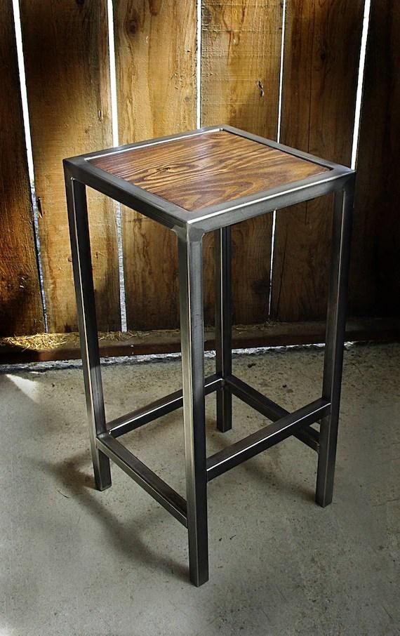 tabouret industriel chaise bar fer bois industrielle