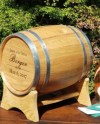 Wine Barrel Wedding Card Holder Engraved With Names And Etsy