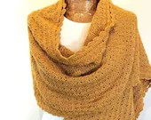 Crochet Wrap English Mustard
