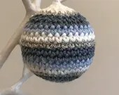 Crochet Pattern - Simple Embellished Christmas Bauble