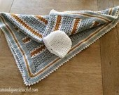 Crochet Pattern V Stitch Baby Blanket