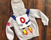 Kids Astronaut Costume | Personlised Hoodie | Kids Dress Up, Astronaut, Space, Galactic Clothes, Kids Clothes, Personalised Gift, Montessori