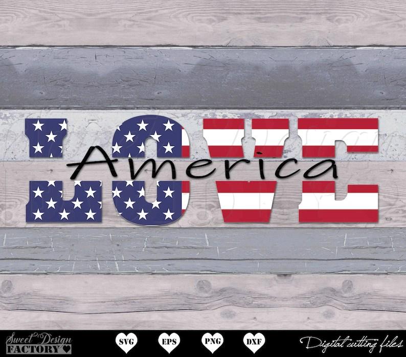 Download Love usa svg USA svg American Flag 4th of July Svg   Etsy