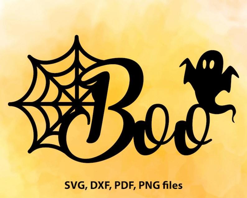 Download Halloween SVG Boo svg Digital cut file Spider web svg | Etsy