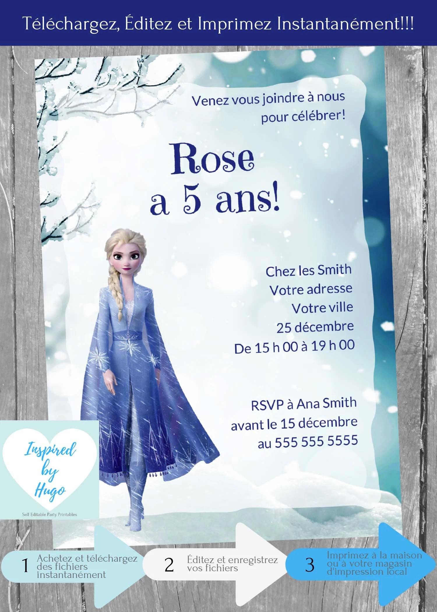 invitation la reine des neiges 2 d