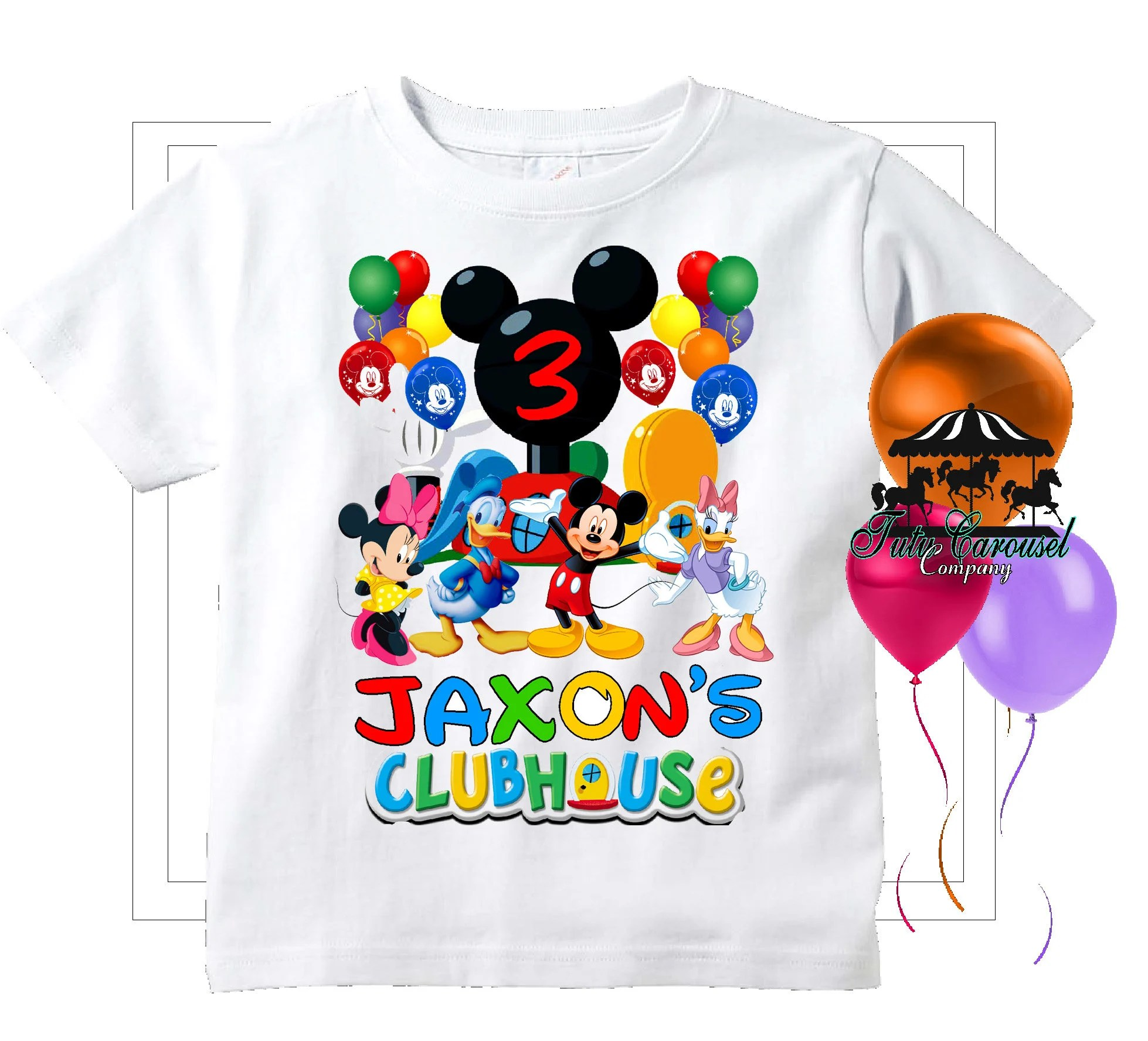 Mickey Mouse Clubhouse Birthday Shirt Personalized Shirt Etsy
