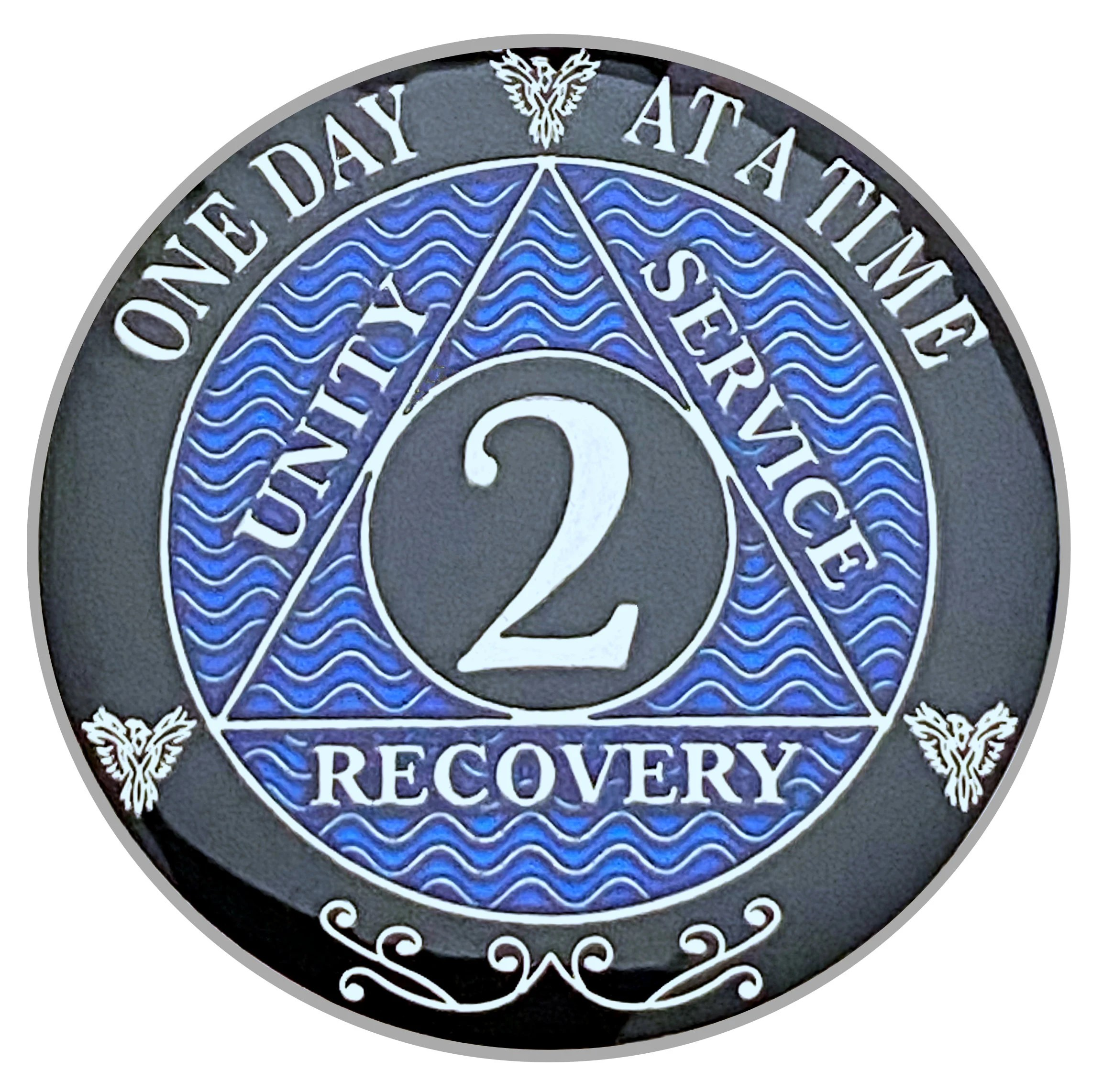 2 Year Aa Coin Silver Color Plated Medallion Recovery