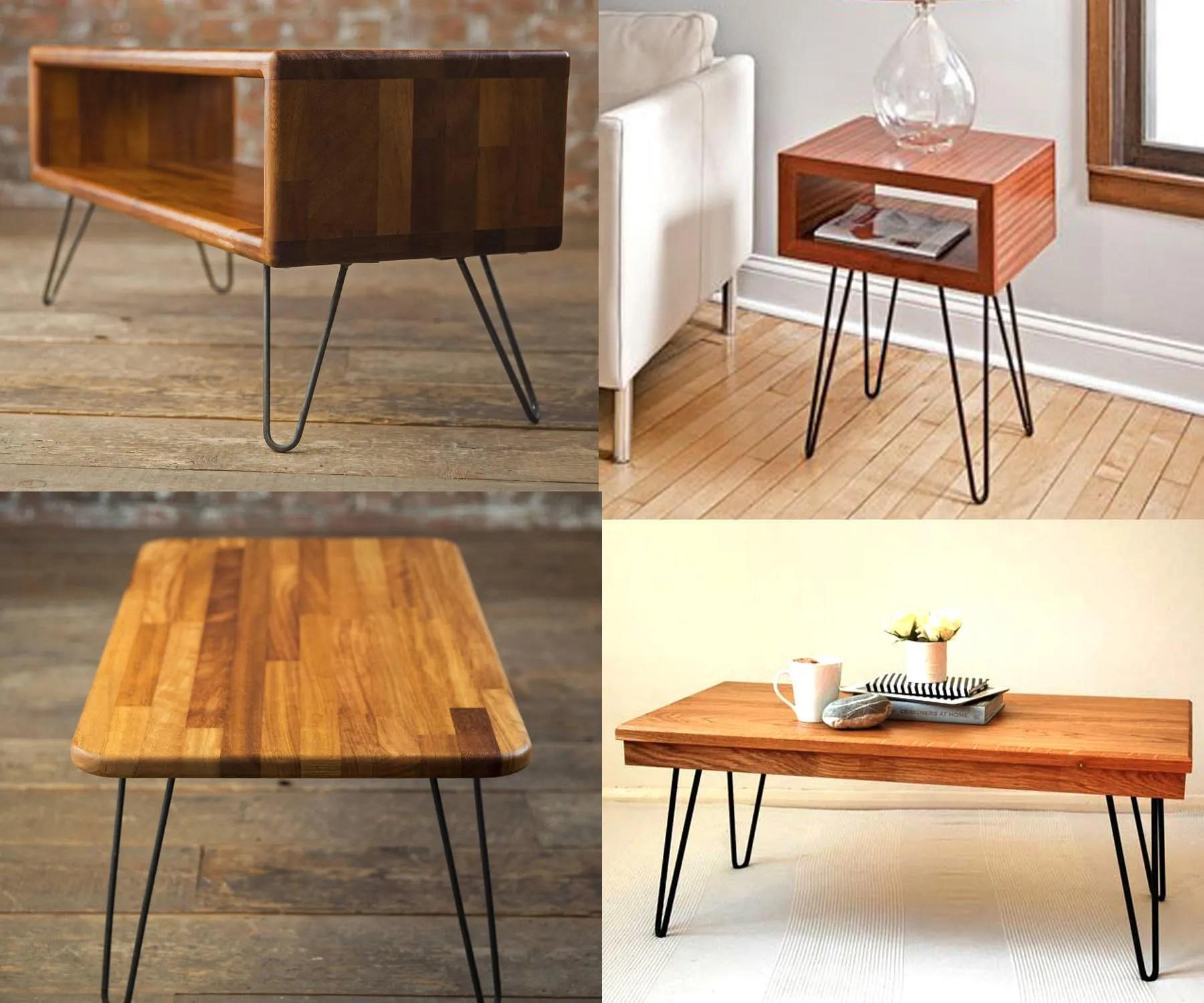 hairpin legs matte black diy industrial strength mid century modern table legs set of 4