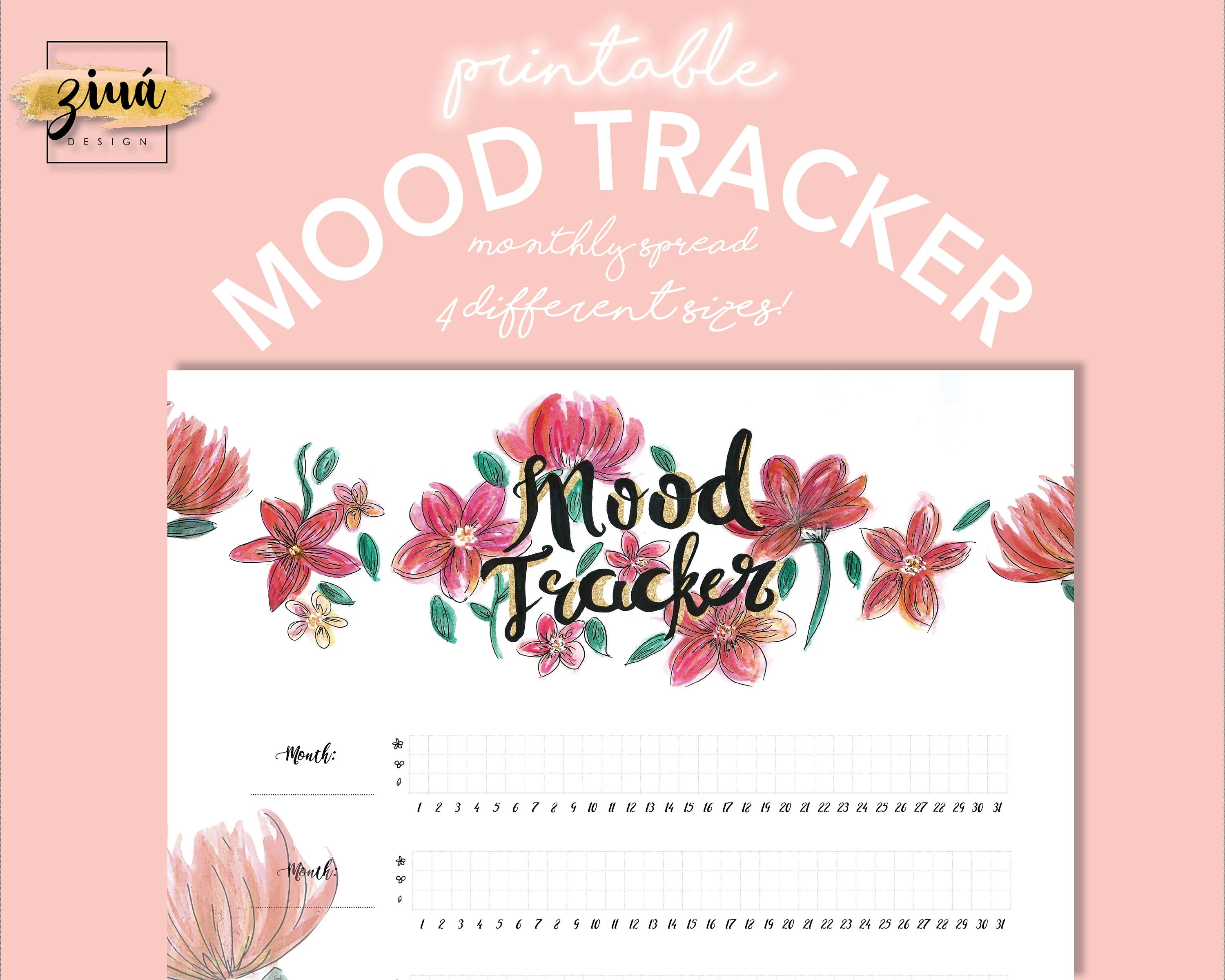 Monthly Mood Tracker Download Happy Planner Daily
