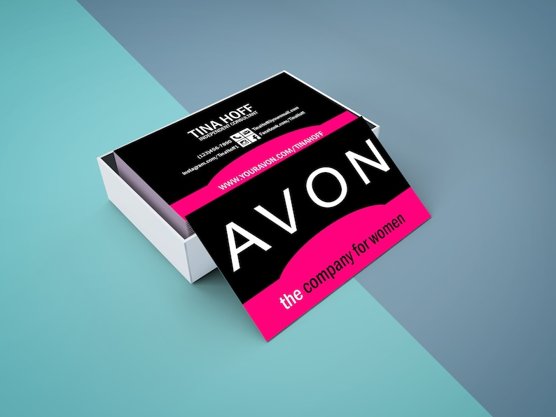 Avon Business Card Digital Or Printed Free Shipping