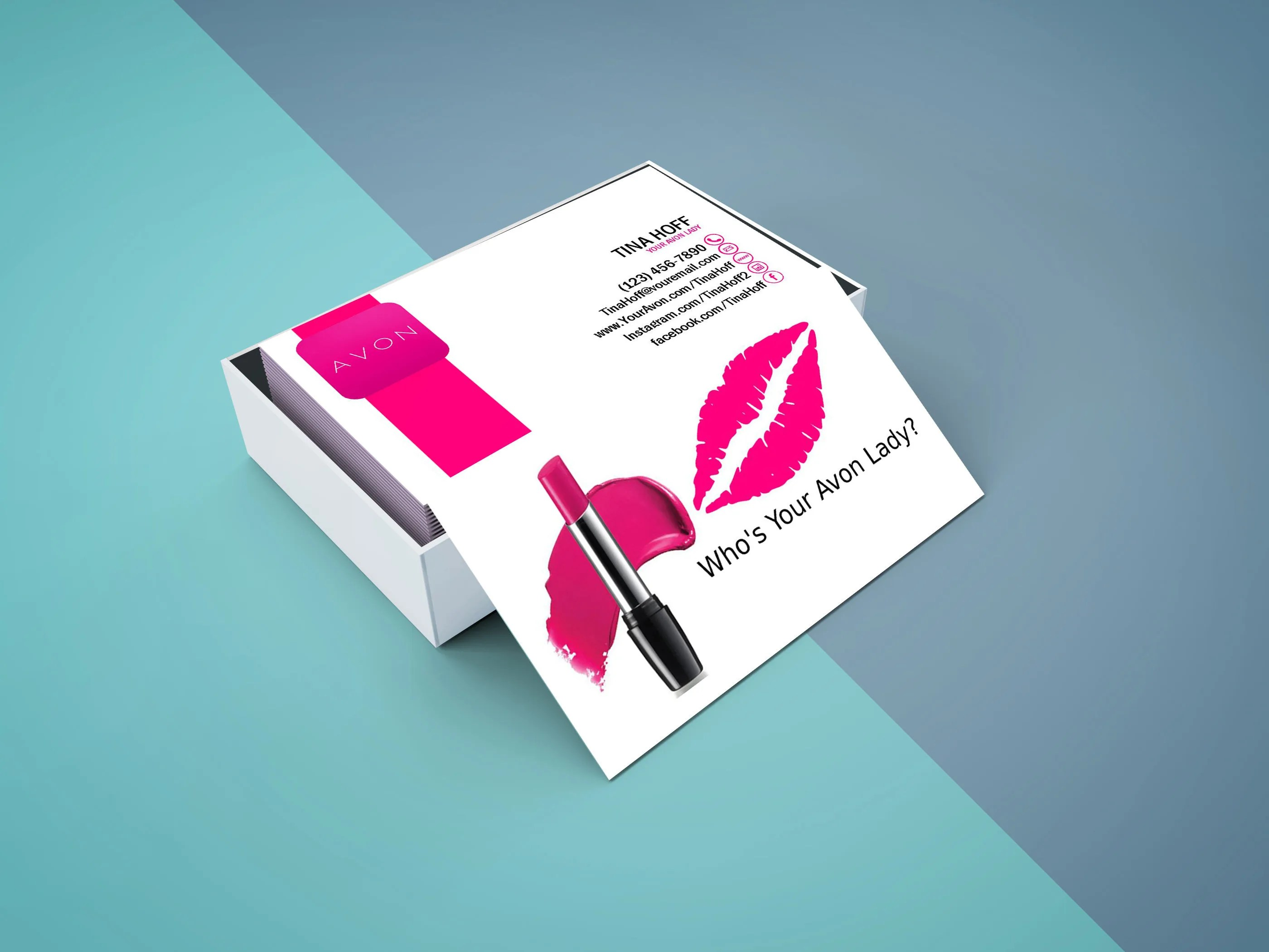 Avon Business Card Digital File Or Printed Free Shipping