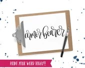 Hand Lettered Word of the Year - Armor-Bearer - INSTANT DOWNLOAD