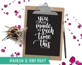 Such a Time - Printable Instant Download