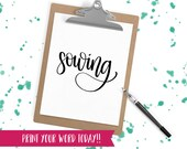 Hand Lettered Word of the Year - Sowing - INSTANT DOWNLOAD