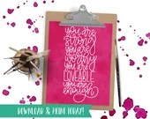You Are Enough - Printable Instant Download