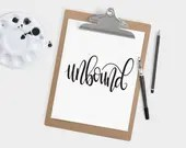 Hand Lettered Word of the Year - Unbound - INSTANT DOWNLOAD