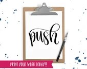 Hand Lettered Word of the Year - Push - INSTANT DOWNLOAD