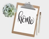 Hand Lettered Word of the Year - Home - INSTANT DOWNLOAD