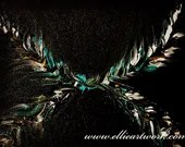 Abstract teal art