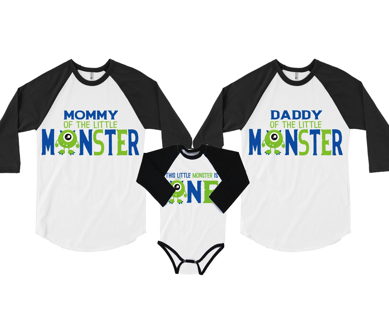 Little Monster 1st Birthday Family Shirtsmonster Birthday Etsy