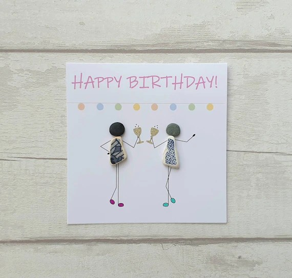 Happy Birthday Card For Best Friend Unique Funny Handmade Etsy
