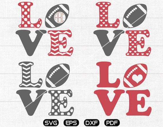 Download LOVE Football SVG, Football Monogram Frame svg, Football ...