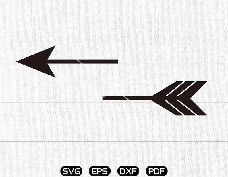 Download Split arrow SVG Clipart cricut silhouette cut files | Etsy