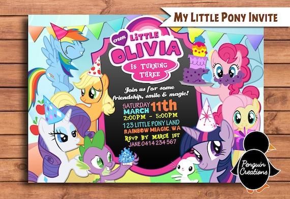 my little pony invitation my little pony birthday party my little pony birthday invite digital invitation