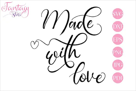 Download Made with love, svg file for cricut, cut files cameo ...