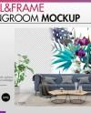 Room Mockup Wall And Frame Mockup Living Room Scandinavian Etsy