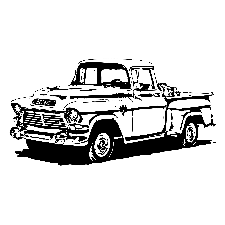 Old Truck Logo 2 Autobucket Of Boltsclunker G Eps