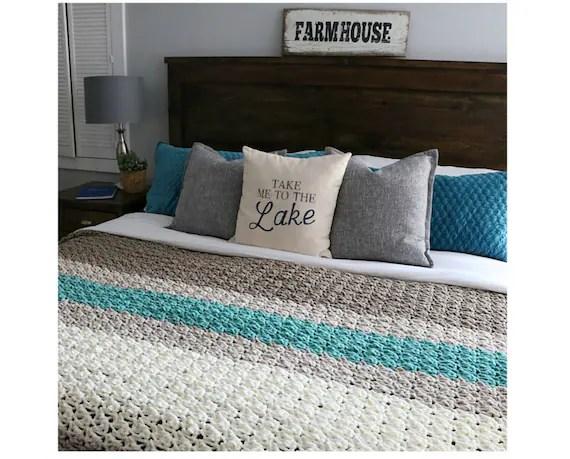 crochet pattern bulky king size blanket king size throw pattern for crochet farmhouse king blanket crochet pattern