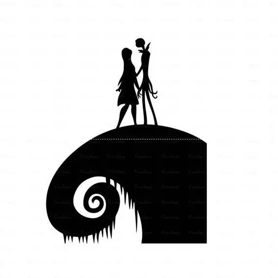 Download Nightmare before Christmas svg jack and sally loveCut ...