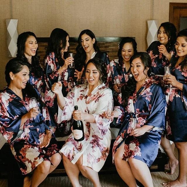 NEW Colors Bridesmaid Robes Floral Kimono Robe Bridal image 7