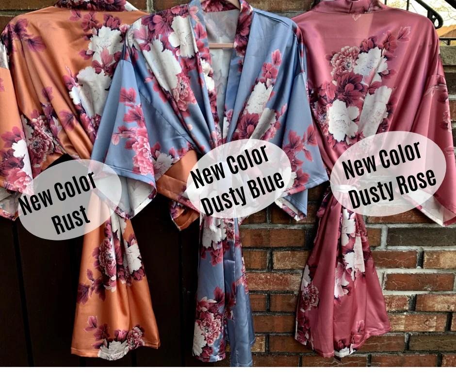 NEW Colors Bridesmaid Robes Floral Kimono Robe Bridal image 5
