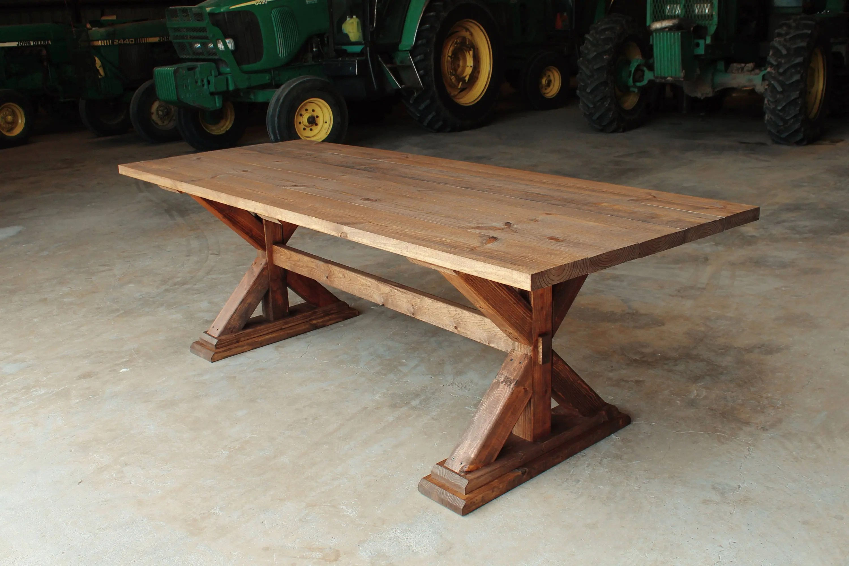 Rustic Farm Table Cross Leg Farmhouse Table Texas Delivery