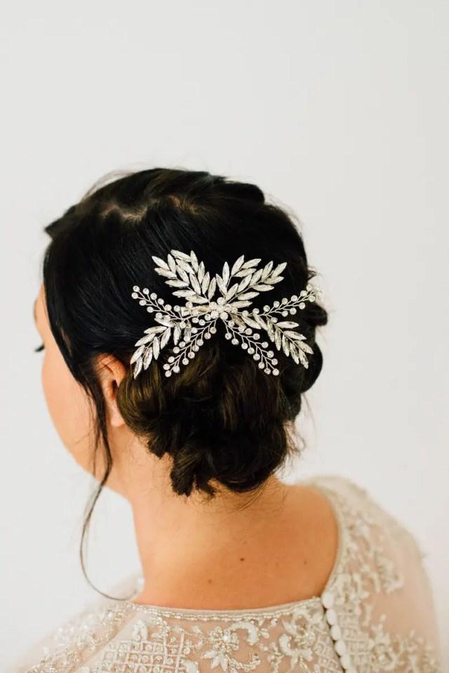 bridal crystal hair clip/silver hair clip/winter hair accessory/bride clip/bride hair pin/wedding accessories/bridal accessories/hair clip