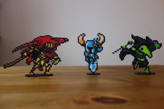 Shovel Knight Specter Knight And Plague Knight On Platform Or Etsy