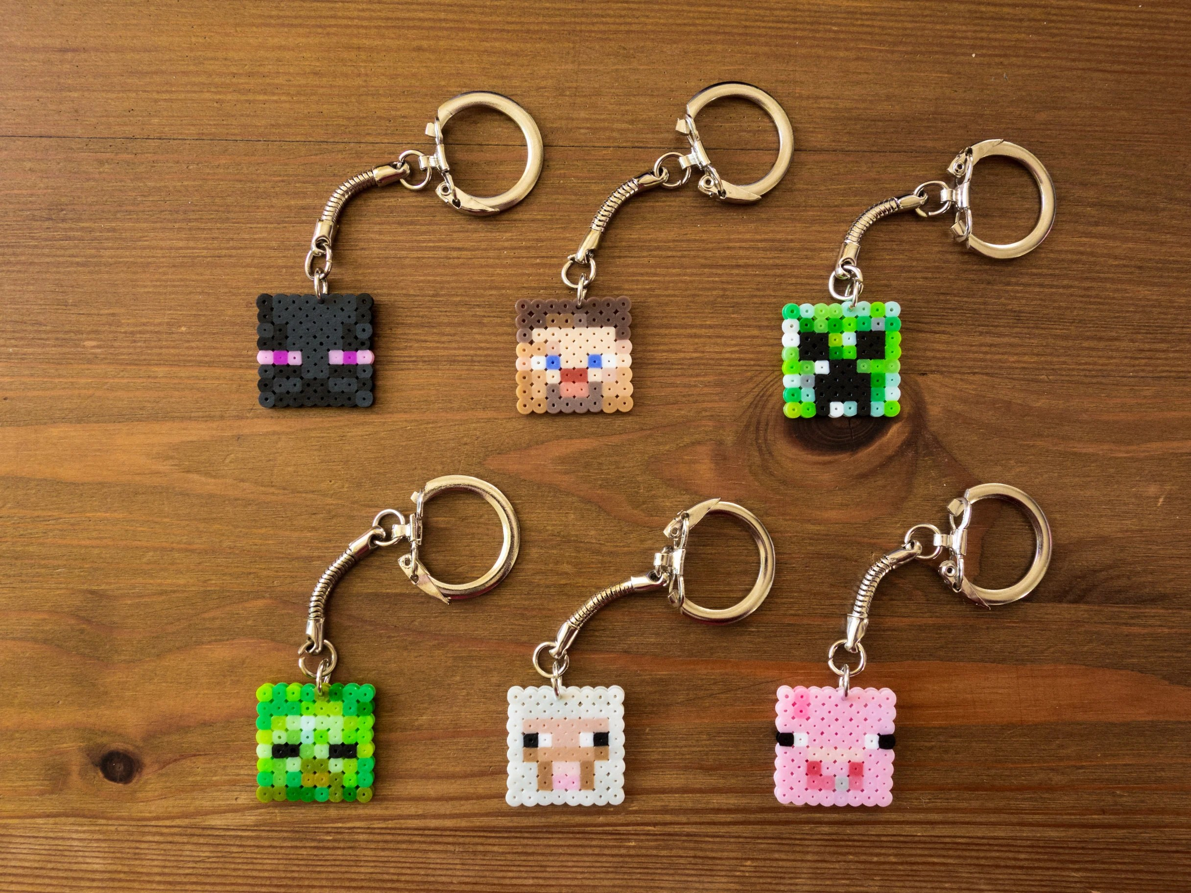 Minecraft Porte Cles Broche Aimant Ou Boucles Doreilles Etsy