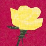 Rose 9 Quilt Block Foundation Paper Pieced Pattern