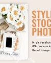 Neutral Floral Styled Stock Photo Iphone Mockup Digital Etsy
