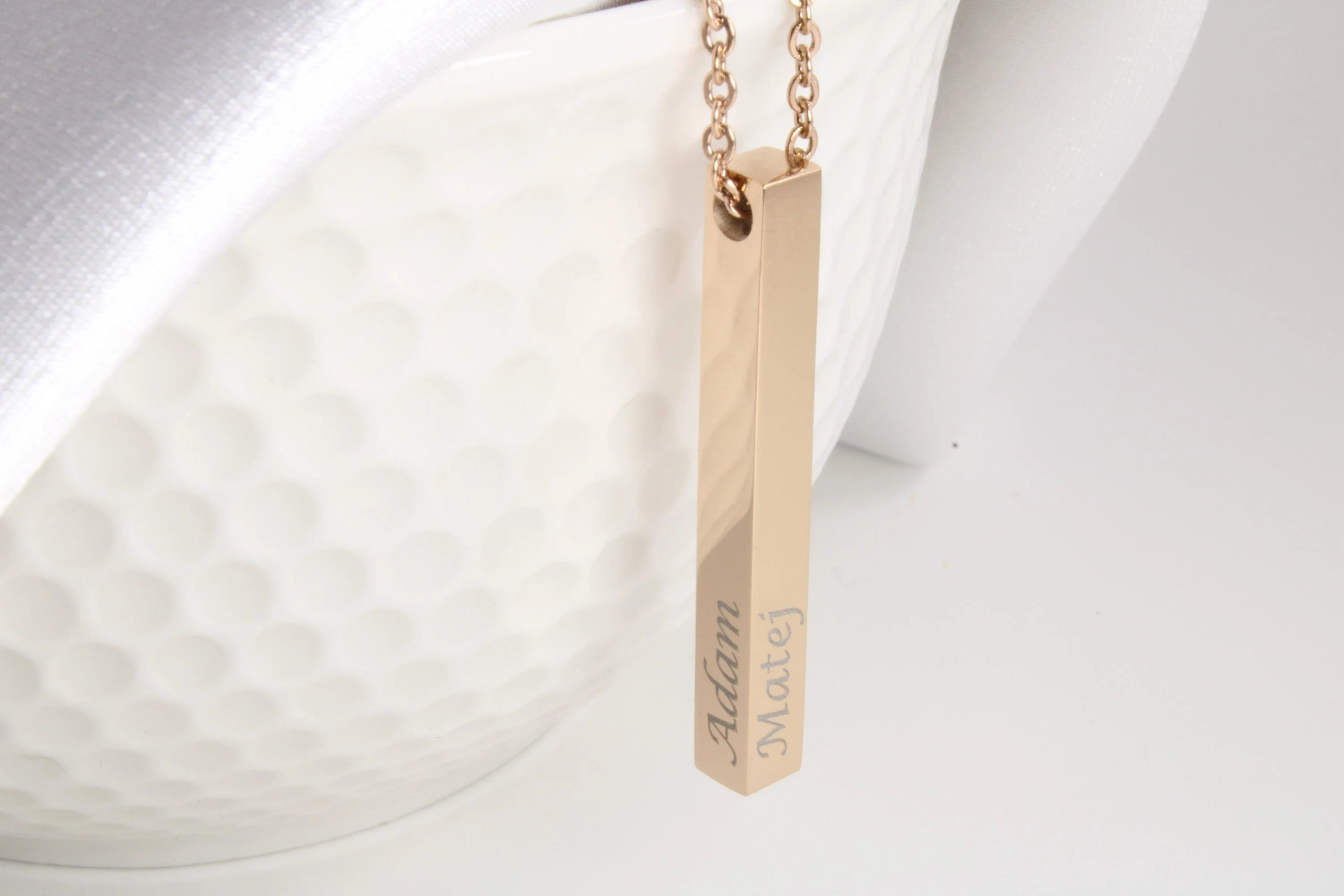 Personalized jewelry bar necklace custom laser engraved image 7