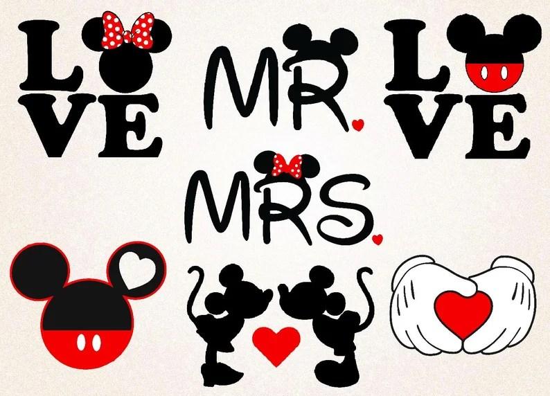 Download Mickey Love SVGPNGeps/mr &mrs mickey minnie/valentines ...